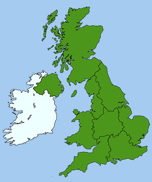 Regional Map of Britain