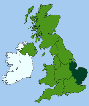 Britain Map Midlands