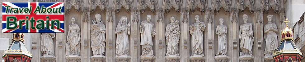 Statues above Westminster Cathedral