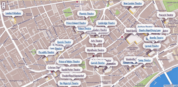 Theatres Parks in Londons West End