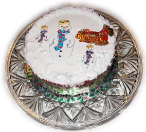 iced christmas cake - British Christmas Cake Decorations