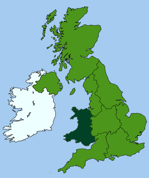 Area Map of Britain